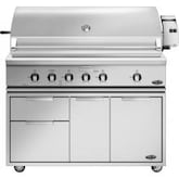 DCS Professional 48-Inch Freestanding Propane Gas Grill With Rotisserie On DCS CAD Cart - BH1-48R-L