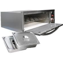 Cal Flame 2-in-1 Built-In 110V Electric Stainless Steel Outdoor Warming / Pizza Oven - BBQ14967E image