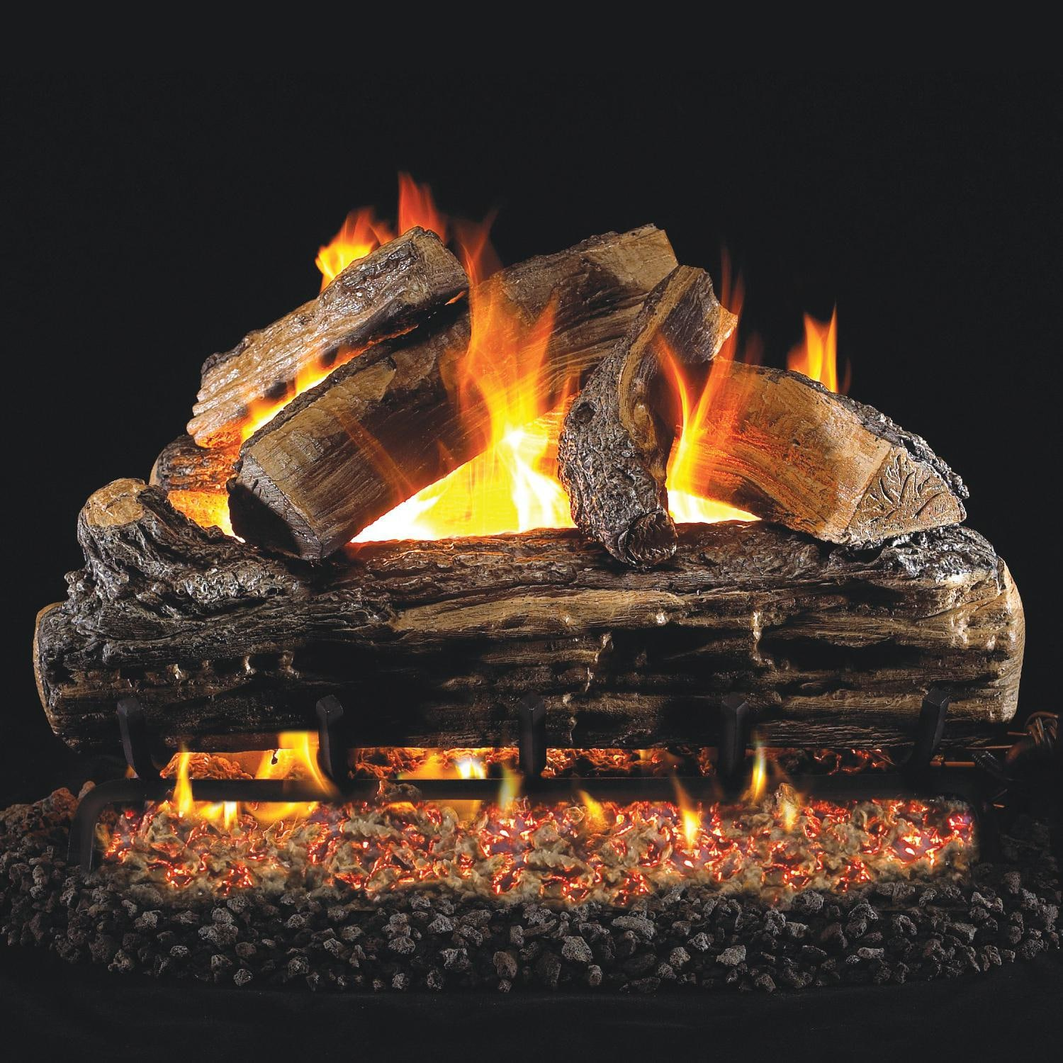 Peterson Real Fyre 24 Inch Split Oak Gas Log Set With Vented Natural Gas G4