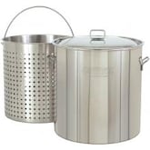 Bayou Classic Pots With Full Sized Basket 142 Quart Stainless Steel Stock Pot