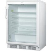 Summit 24-Inch 5.5 Cu. Ft. Commercial Rated Beverage Refrigerator - White - SCR600LBI