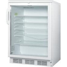 Summit 24-Inch 5.5 Cu. Ft. Commercial Rated Beverage Refrigerator - White - SCR600LBI image