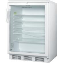 Summit 24-Inch 5.5 Cu. Ft. Commercial Rated Beverage Refrigerator - White - SCR600LBI Summit 5.5 Cu. Ft. Beverage Refrigerator - White - SCR600LBI