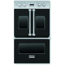 Viking Professional 7 Series 30-Inch Built-In French Door Convection Double Electric Oven - Black - VDOF730BK image
