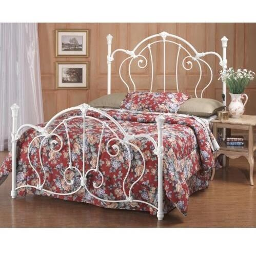 Hillsdale Cherie Ivory Metal Bed Set With Frame - Full - 381BFR