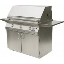 Solaire 42 Inch InfraVection Freestanding Propane Gas Grill On Standard Cart - SOL-IRBQ-42CVV-LP
