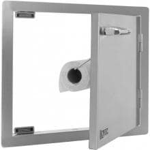 Lion 22-Inch Single Access Door - Horizontal Lion 22-Inch Single Access Door - Horizontal - Open w/ Paper Towel Holder