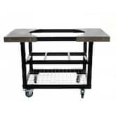 Primo Steel Cart With Stainless Steel Side Tables For Oval Junior