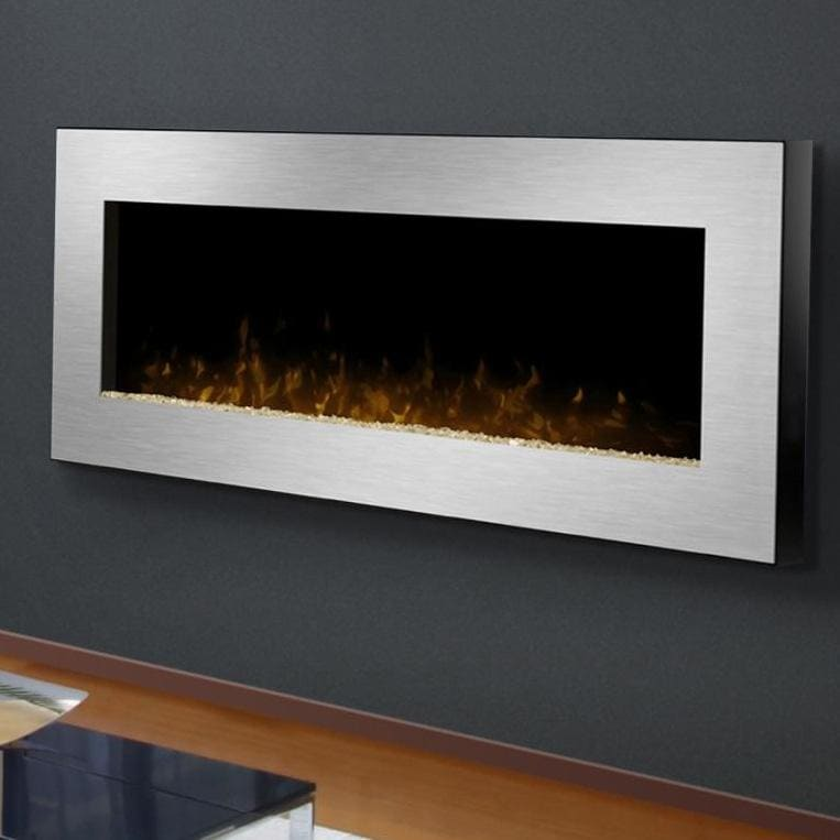Dimplex Celebrity 49 Inch Wall Mount Electric Fireplace Stainless Steel Dwf1207sb