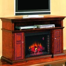 Pasadena 60-Inch Electric Fireplace Media Console - Walnut - 28MM468