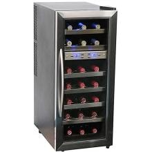Whynter 21 Bottle Dual Zone Wine Cooler - Stainless Steel - WC-211DZ