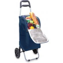 Picnic Time Portable Insulated Cooler With Trolley - Navy image