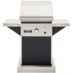 TEC Patio FR 26-Inch Infrared Propane Gas Grill On Black Pedestal - PFR1LPPEDB image