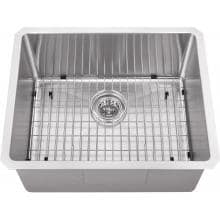 Platinum Sinks 23 X 19 16-Gauge Single Bowl Stainless Steel Undermount Sink With Strainer And Grid