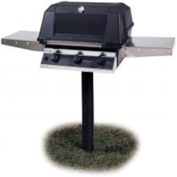 MHP WHRG4DD Hybrid Propane Gas Grill W/ SearMagic Grids On In-Ground Post image