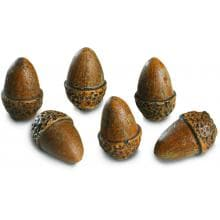 Peterson Real Fyre Decorative Acorns - Set Of 6 image