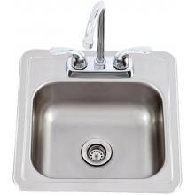 Lion 15 X 15 Outdoor Rated Stainless Steel Sink With Hot/Cold Faucet Lion 15 X 15 Stainless Steel Sink With Faucet