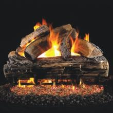 Peterson Real Fyre 30-Inch Split Oak Gas Log Set With Vented Propane ANSI Certified G46 Burner - Manual Safety Pilot Peterson Split Oak