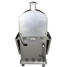 HomComfort Stainless Steel Outdoor Pizza Oven On Cart - Propane - HCP16SS HomeComfort Stainless Steel Outdoor Pizza Oven On Cart - Propane - HCP16SS - Back