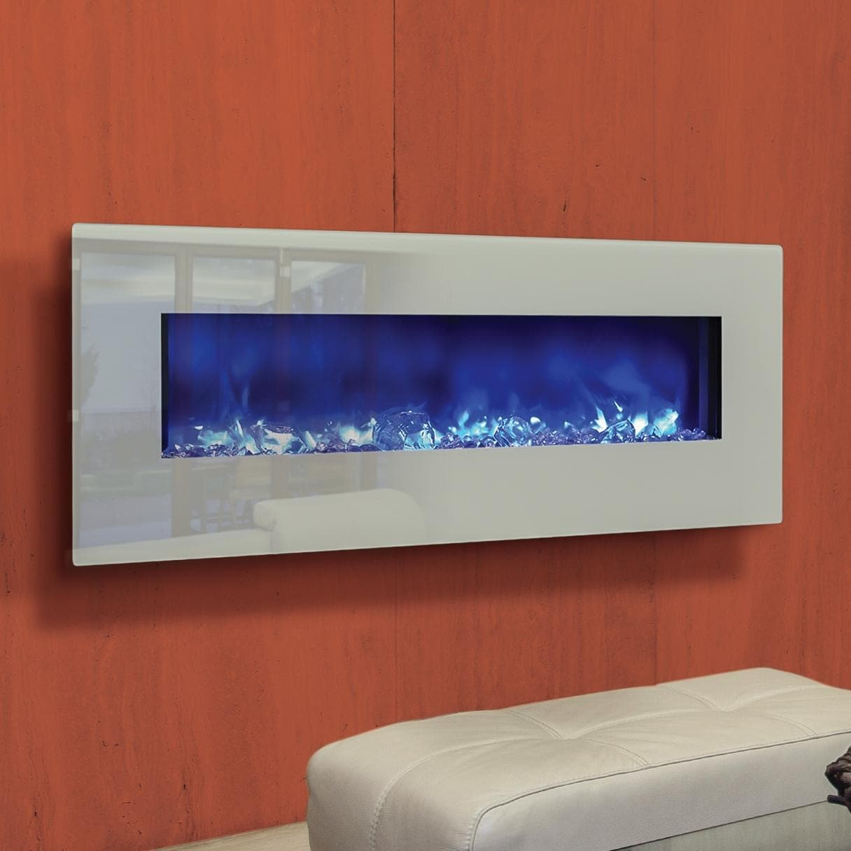 amantii fire u0026 ice series 48 inch wall mount built in electric