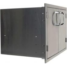 BBQGuys.com Kingston Series 42-Inch Stainless Steel Enclosed Cabinet Storage With Shelf BBQGuys.com Kingston Series Double Access Door With Enclosed Storage Side View