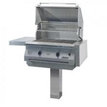 Solaire 30 Inch InfraVection Natural Gas Grill On In-Ground Post - SOL-IRBQ-30VI-IGP-NG Solaire Gas Grills 30 Inch InfraVection Gas Grill With One Infrared Burner On In-Ground Post