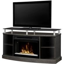 Dimplex Multi-Fire XD Windham 53-Inch Electric Fireplace Media Console - Acrylic Ice Embers - Silver Charcoal - GDS25CG-1015SC Dimplex Multi-Fire XD Windham 53-Inch Electric Fireplace Media Console - Front View