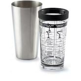 16-Ounce Glass Boston Cocktail Shaker With Stainless Steel Tumbler