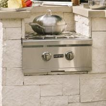 Coyote Built-In Natural Gas Power Burner - C1PBNG Coyote Built-In Power Burner - Installed in Outdoor Kitchen (Shown with Wok - Not Included)