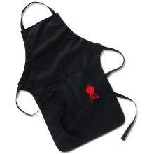Weber 6474 Black With Red Kettle Cotton BBQ Apron
