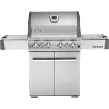 Napoleon LA Series Propane Gas Grill With Rear Infrared Burner And Side Infrared Burner On Cart