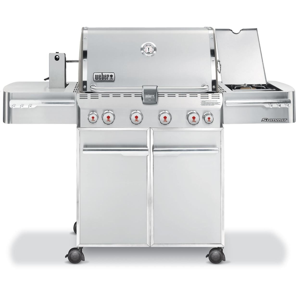 weber gas grills summit s 450 propane gas bbq grill w. Black Bedroom Furniture Sets. Home Design Ideas