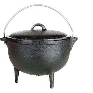 Cajun Classic 1-Quart Seasoned Cast Iron Camp Pot With Legs - GL1045SS image