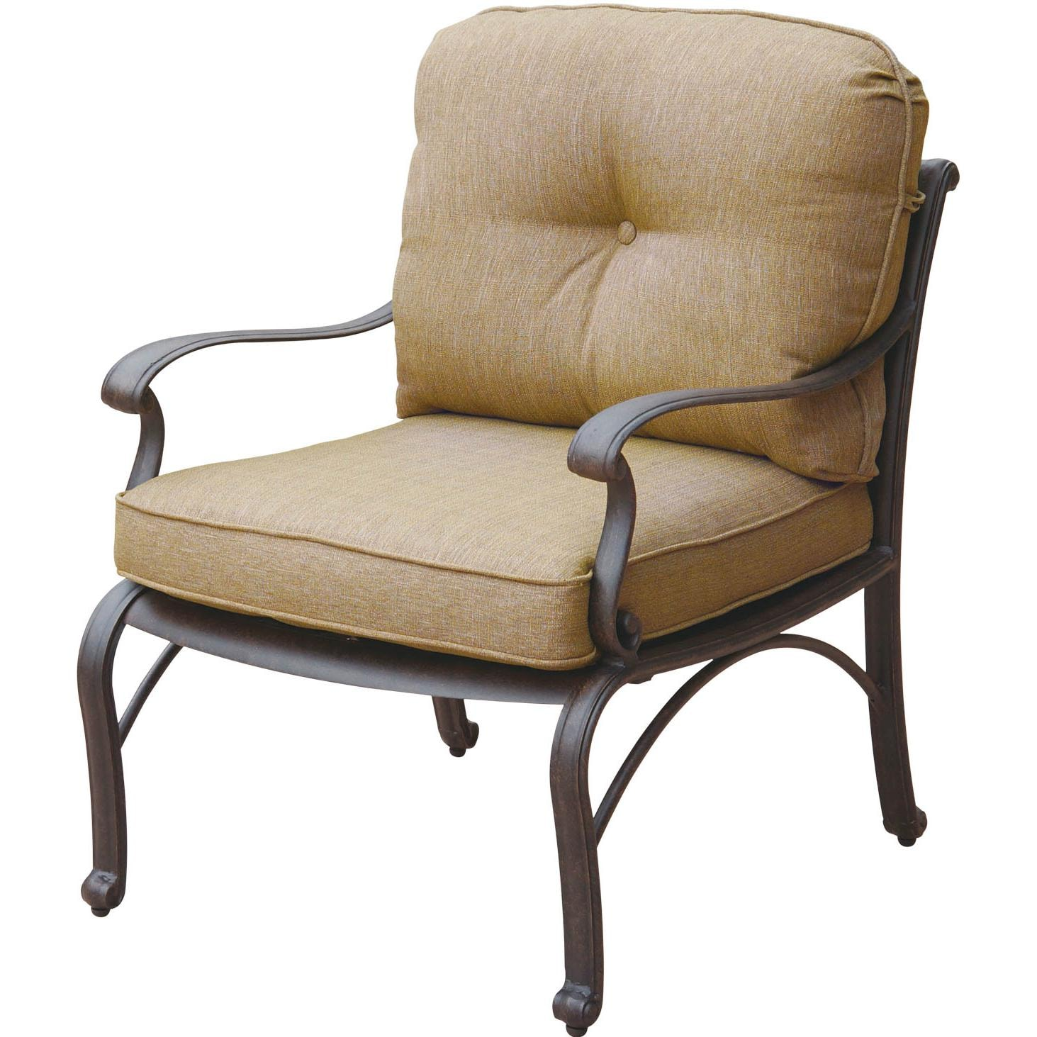 Darlee catalina cast aluminum patio club chair ultimate for Aluminum patio chairs