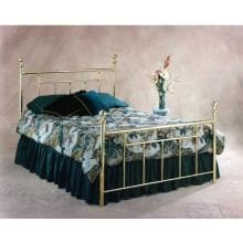 Hillsdale Chelsea Classic Brass Four Post Bed Set With Frame - King - 1037BKR2