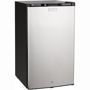 Fire Magic 20-Inch 4.0 Cu. Ft. Compact Refrigerator - Stainless Steel Door / Black Cabinet - 3598 image