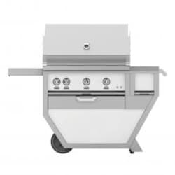 Hestan Deluxe 36-Inch Propane Gas Grill W/ All Infrared Burners, Rotisserie, Worktop & Storage Drawer - Froth - GSBR36CX-LP-WH image
