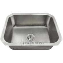 Polaris 23 X 18 Single Bowl Stainless Steel Undermount Sink Polaris 23 X 18 Single Bowl Stainless Steel Undermount Sink (Shown With Standard Strainer - Not Included)