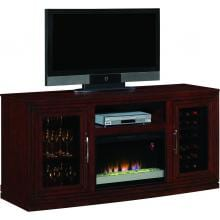 Baxter 70-Inch Electric Fireplace Media Console And Wine Cooler - Empire Cherry - 26TF2322 Baxter 70-Inch Electric Fireplace Media Console And Wine Cooler - Empire Cherry