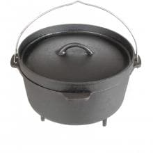 Cajun Classic 4.5-Quart Seasoned Cast Iron Camp Pot With Legs - GL10456S image