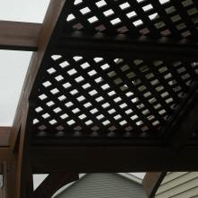 Outdoor GreatRoom Company Lattice Roof For 12 X 12 Foot Sonoma Arched Wood Pergola In Mocha Stain