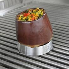 Steven Raichlen Large Stainless Steel Grill Ring With Spike Roasting Eggplant With The Steven Raichlen Stainless Steel Grill Ring