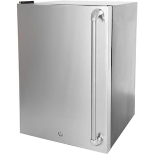 Blaze 20-Inch 4.5 Cu. Ft. Left Hinge Compact Refrigerator With Stainless Steel Door & Towel Bar Handle - BLZ-SSRF130 image