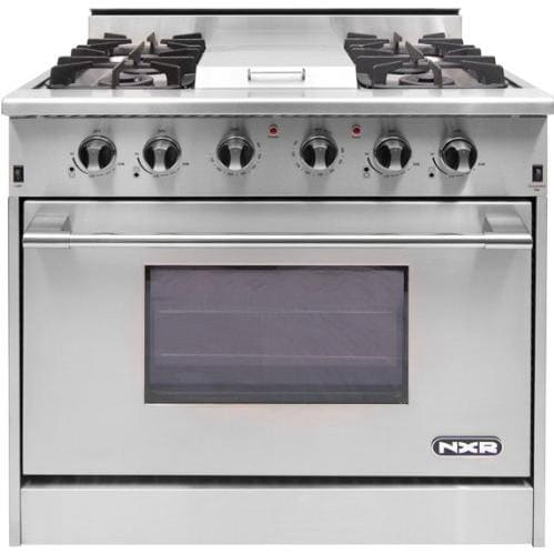 NXR 36-Inch 4-Burner Natural Gas Professional Range With ...