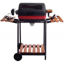 Meco Electric Grill On Cart With Rotisserie And Fold Down Side Tables - 9329W