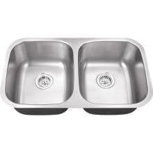 Platinum Sinks 32 X 18 16-Gauge Double Bowl Stainless Steel Undermount Sink image