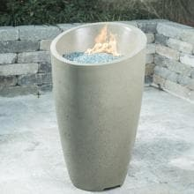 American Fyre Designs Eclipse 23-Inch Propane Gas Fire Urn - Smoke image