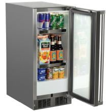 Marvel 15-Inch 2.7 Cu. Ft. Left Hinge Outdoor Rated Compact Refrigerator - MO15RAS2LS Marvel 15-Inch Left Hinge Outdoor Compact Refrigerator - MO15RAS2LS - Open (Right Hinge Shown)