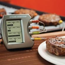 Steak Station Digital Meat Thermometer With Four Probes image