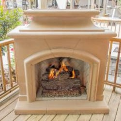 American Fyre Designs Mariposa 63-Inch Outdoor Natural Gas Vent-Free Fireplace - Sedona image
